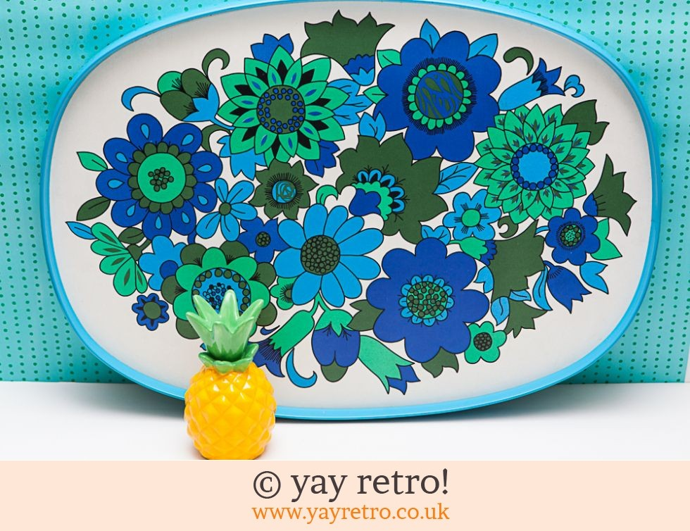 St Michael: Best Ever XL Blue Vintage Flowery Tray (£23.95)