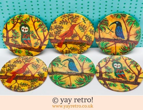 102: Rare Worcester ware Bird Coasters - Boxed (£16.00)