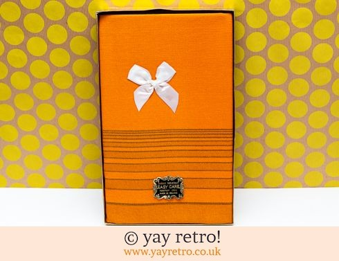 0: Unused 70s Orange Tablecloth - Boxed! (£21.50)
