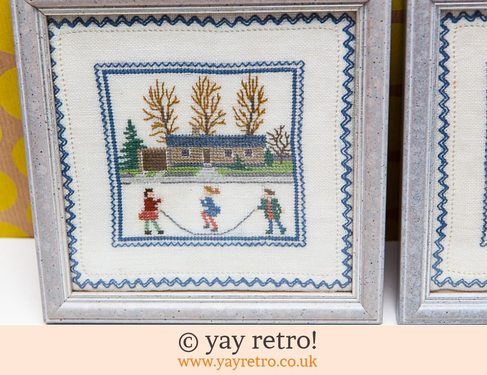 2 Gorgeous Stitched Pictures in Frames (£4.00)