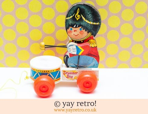 535: Fisher Price 'Drummer Boy' 1967 Pull Along (£18.50)