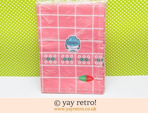 0: Vintage Pink Check Tablecloth Unused in Pack (£8.00)