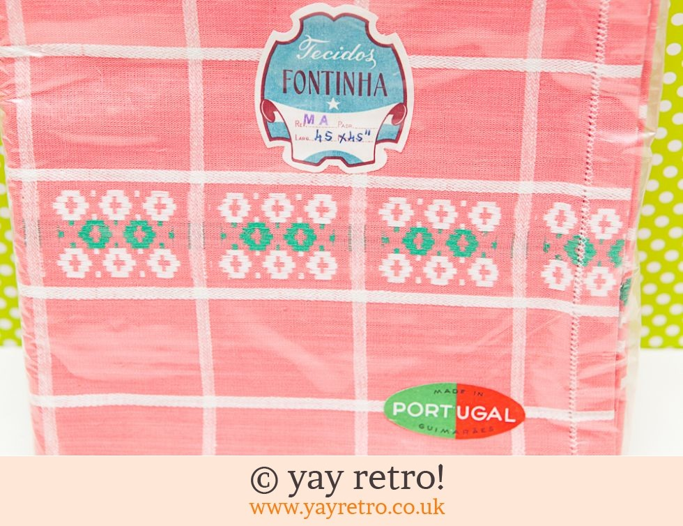 Vintage Pink Check Tablecloth Unused in Pack (£8.00)