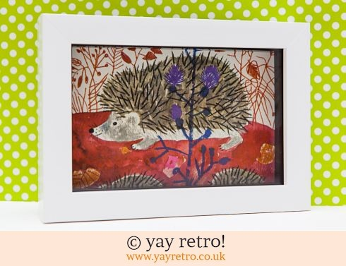 0: Framed 1974 Károly Reich Hedgehogs 6x4 (£7.50)
