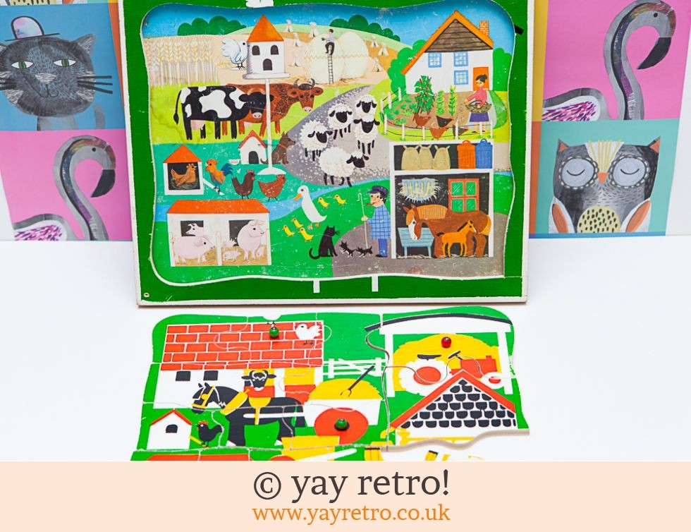 60/70s Look Inside Farm Jigsaw Play Tray (£19.50)