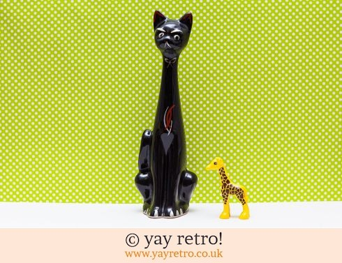 0: XL Mid Century Tall Cat Vase (£21.00)