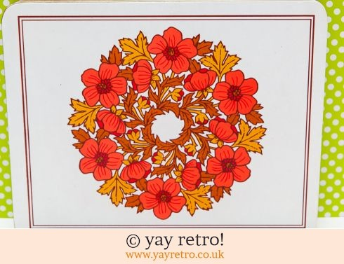 0: Vintage Red Flower Table Mats  x 6 (£12.00)