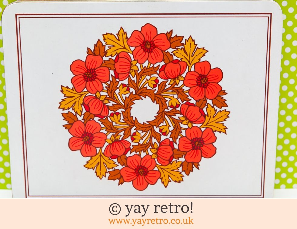 Vintage Red Flower Table Mats  x 6 (£16.95)