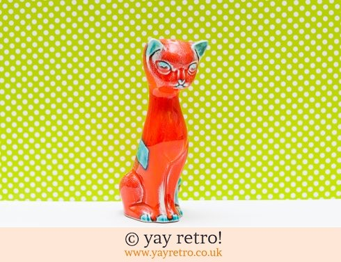 196: Trentham Pottery Orange Cat (£18.00)