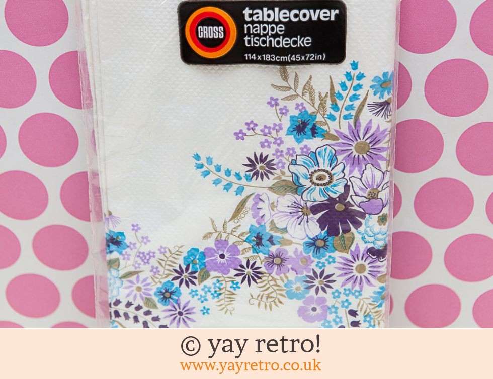 Vintage Paper Tablecloth Flower Power (£6.00)