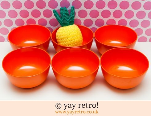 Rosti Mepal Orange Bowls x 6 (£24.00)