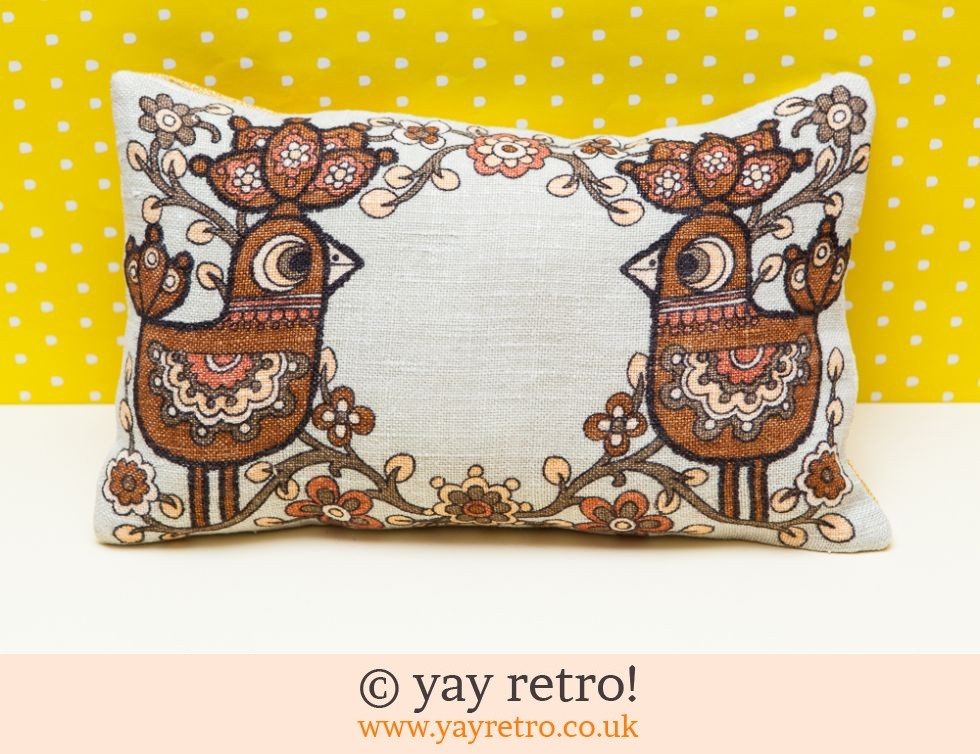 Chocolate Scandi Bird Cushion (£14.00)
