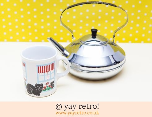0: Vintage Chrome Teapot & Mug Set (£18.00)