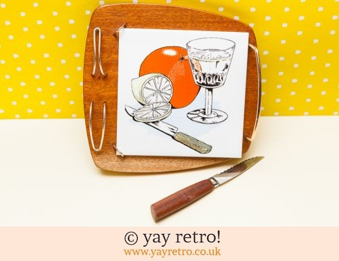 108: Orange Vintage Barware Board (£14.00)