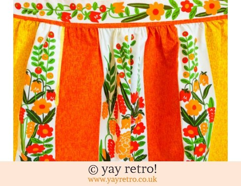 248: Scandi Style Vintage Flower Apron - As new! (£16.95)