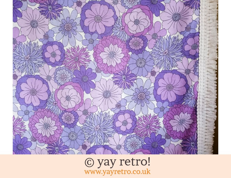 Marks & Spencer: Vintage M&S Purple Flower Bed Throw (£32.00)