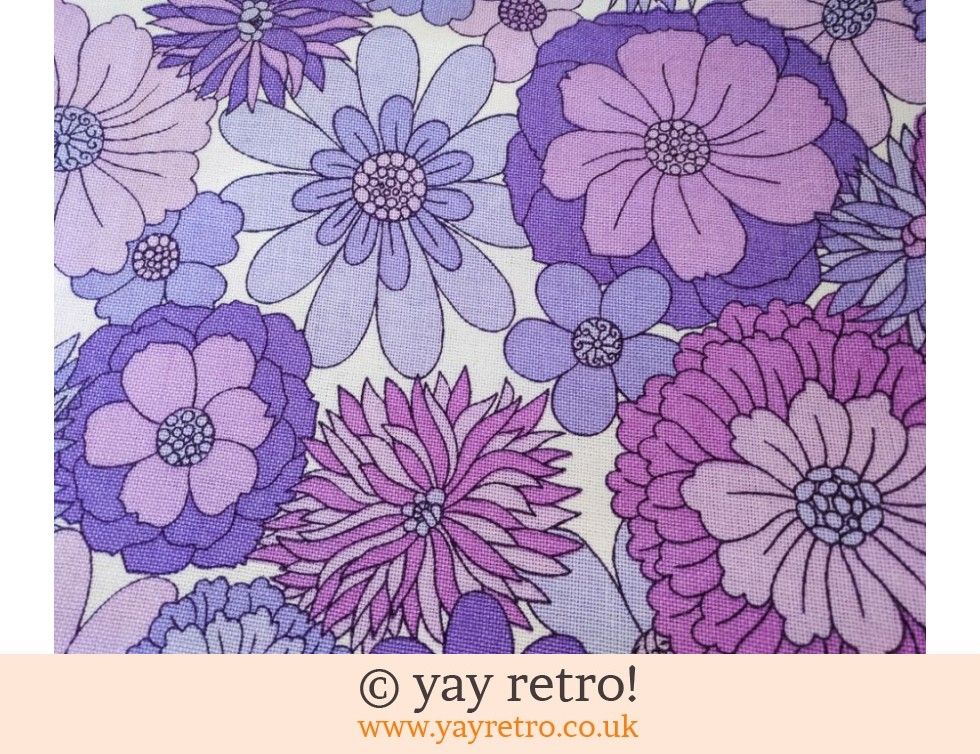 Vintage M&S Purple Flower Bed Throw (£32.00)