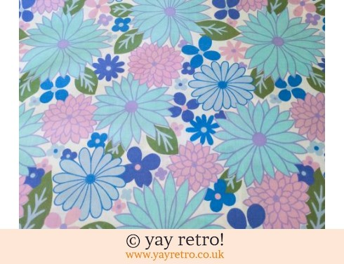 0: Gorgeous Vintage Blue Flowery Double Sheet - looks new! (£27.75)