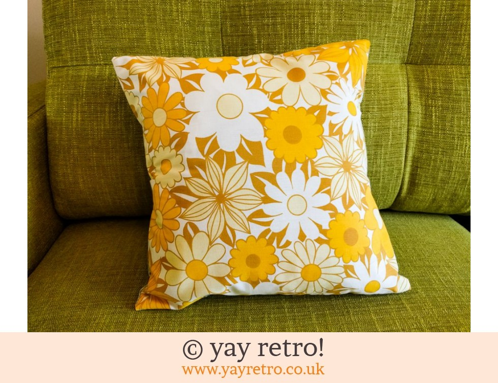 Yellow Vintage Daisy Cushion & Pad (£12.99)