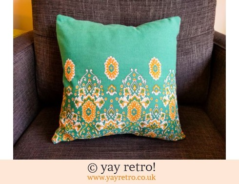 0: Green Vintage Paisley Cushion & Pad (£12.99)