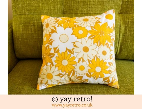 0: Yellow Vintage Daisy Cushion & Pad (£12.99)