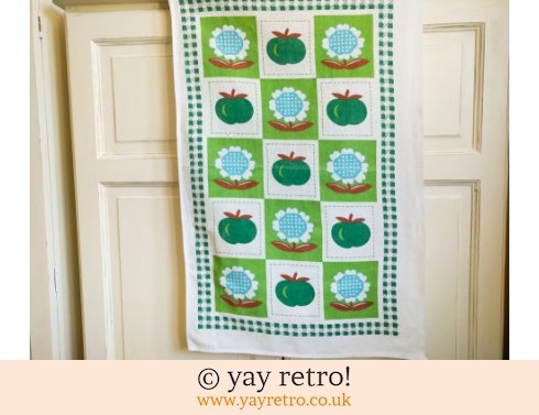 0: Vintage Apple & Daisy Tea Towel (£5.00)
