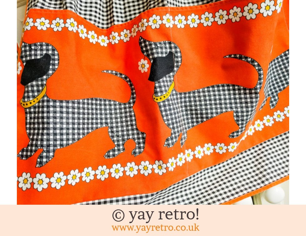 Stunning Sausage Dog Orange Apron M&S (£16.75)