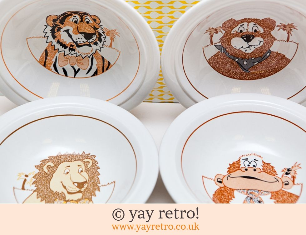 Funky Animal Dishes x4 (£9.00)