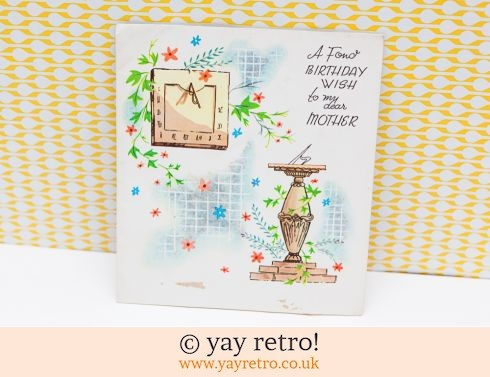 Genuine Vintage Birthday Card Unused - Mother (£1.00)