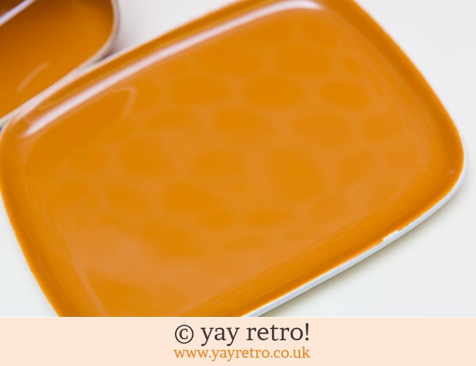 Poole Bright Orange Cheese Dish (£25.00)