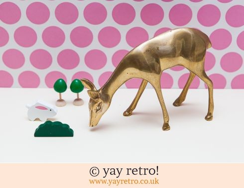 0: Large Brass Deer Ornament (£8.50)