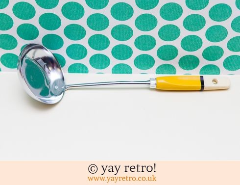 98: Skyline Yellow Soup Ladle - postage inc. (£14.50)