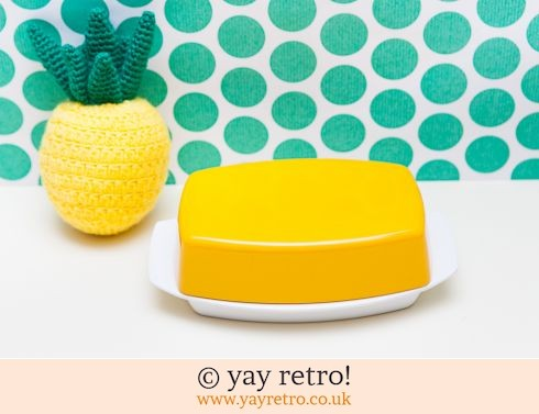 35: Vintage Gaydon Yellow Butter Dish (£18.50)