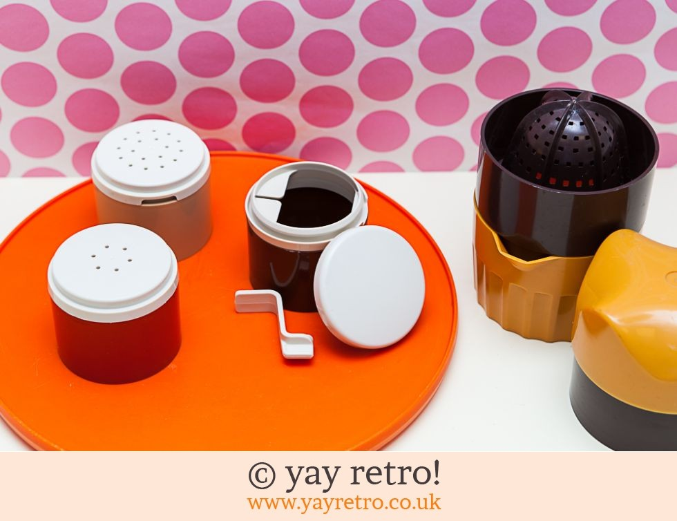 Orange Vintage Kitchenware Set (£11.00)