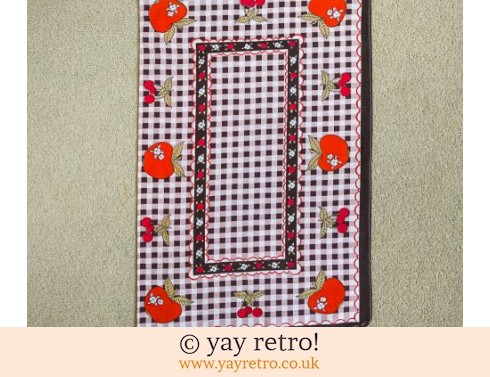0: Apples & Cherries Check Tea Towel (£5.50)