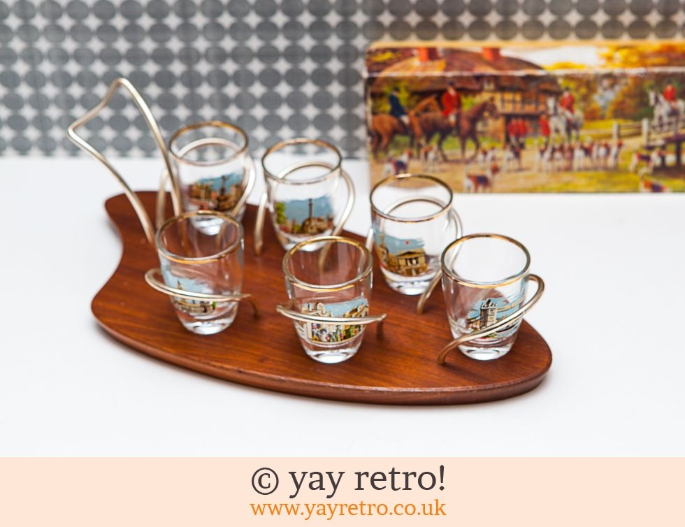 Wyncraft Glass Holder with London Shot Glasses Boxed (£19.50)