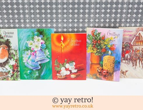 0: Genuine Vintage 60/70s Christmas Cards x 5 (£6.50)