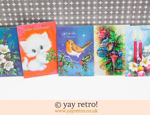 0: Genuine Vintage 60/70s Christmas Cards x 5 (£5.50)