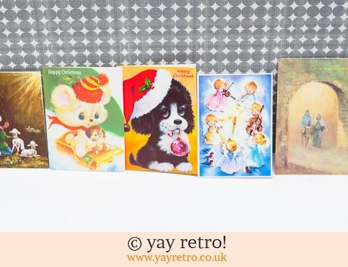 0: Genuine Vintage 60/70s Christmas Cards x 5 (£5.00)