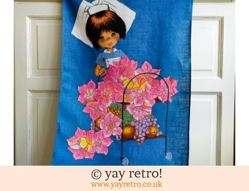 0: Vintage 60/70s Nurse Tea Towel Kitsch (£7.00)