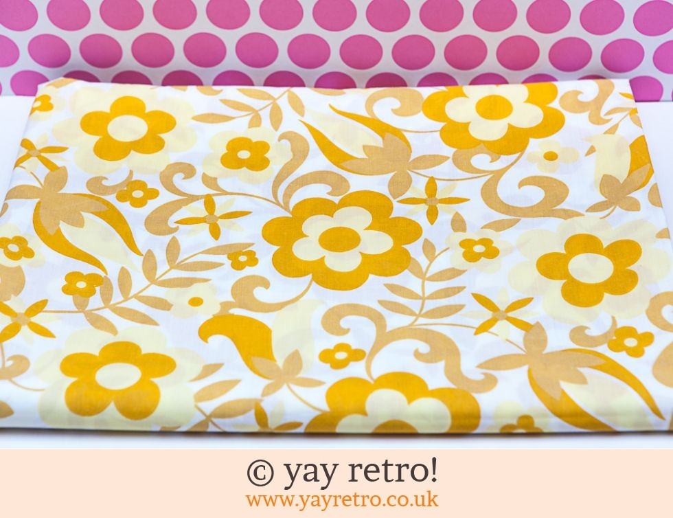 Yellow Flower Power Single Sheet 60/70s (£17.50)