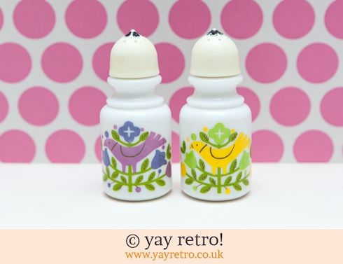 Avon Bird Salt & Pepper Pots - Rare (£18.50)
