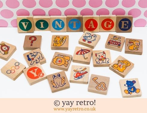 0: Vintage Picture Alphabet Wooden Blocks (£11.95)