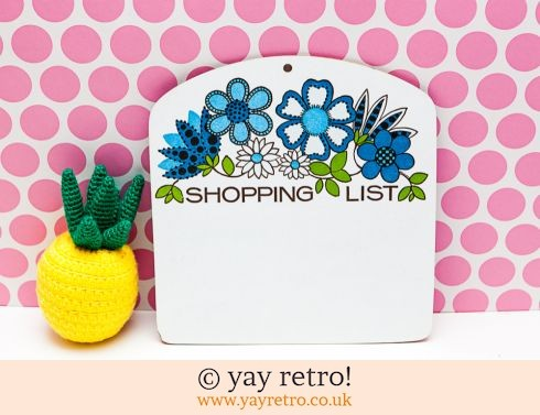55: Flower Power Shopping List Melamine (£7.50)