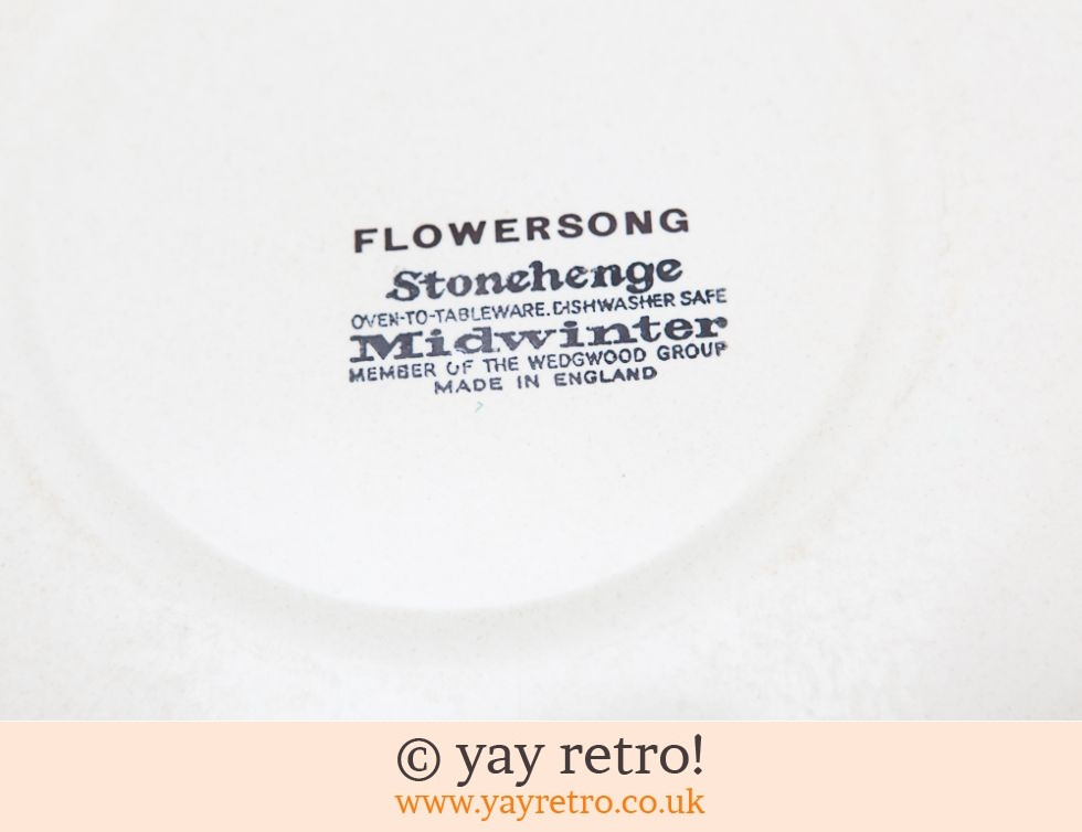 Flowersong Large Dinner Plate (£10.00)