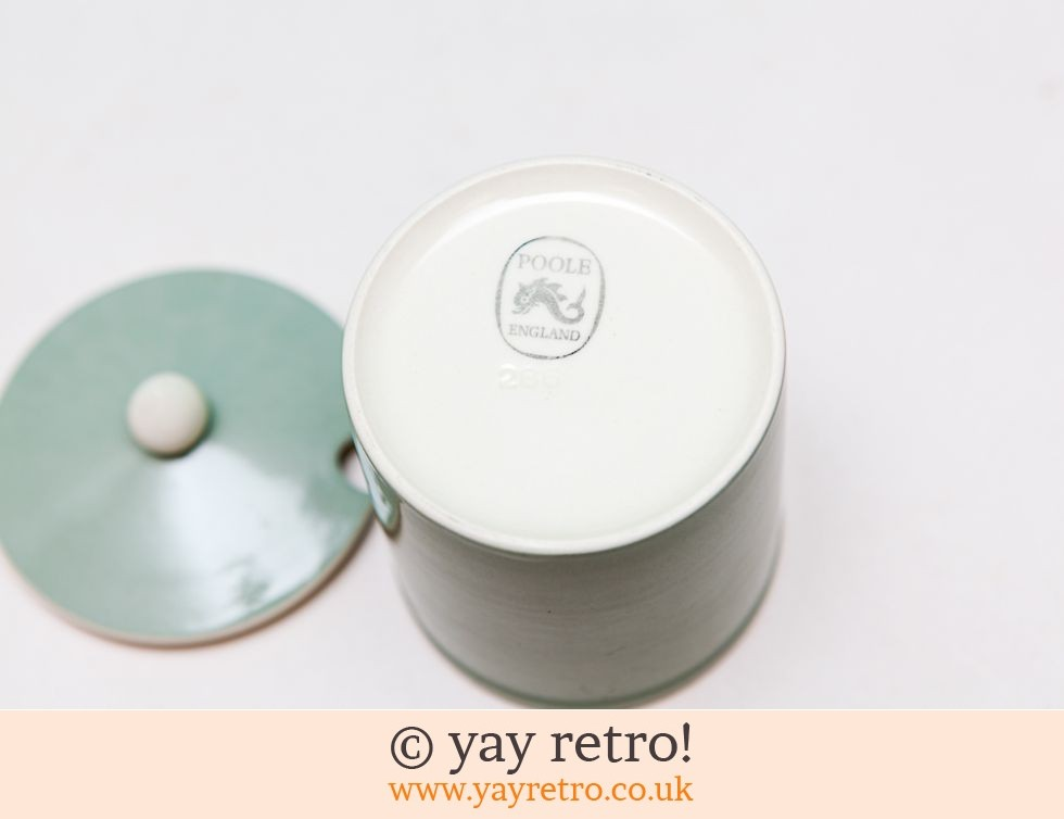 Rare Celadon Poole Preserve Pot + Free Sugar Spoon (£12.75)