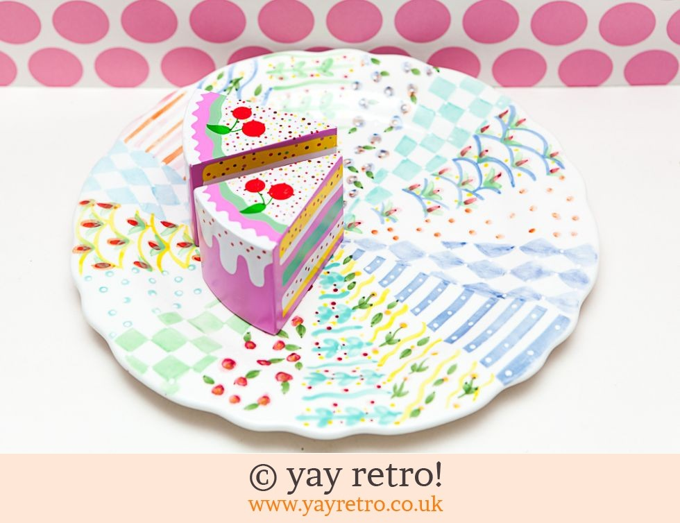 Large hand painted Cake Plate (£10.00)