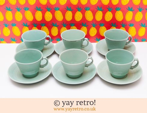 58: Beryl Cups and Saucers x 6 OFFER! (£12.00)