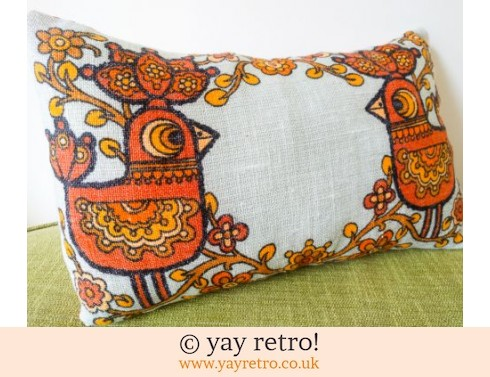 0: Orange Scandi Bird Cushion (£19.50)
