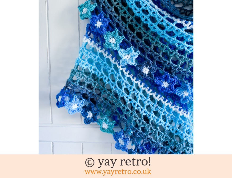 'Forget Me Not' Tea flower Crochet Shawl (£32.50)